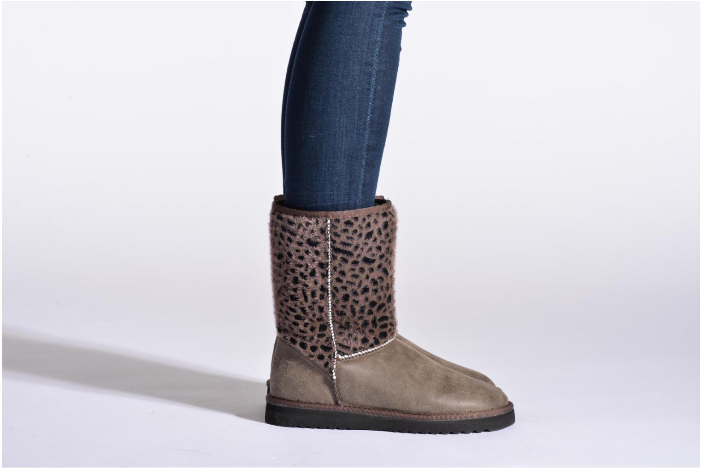 Bottines et boots Esprit Uma Leo Boot 050 Beige vue bas / vue portée sac