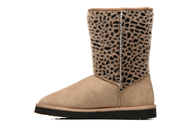 Boots en enkellaarsjes Esprit Uma Leo Boot 050 Beige voorkant