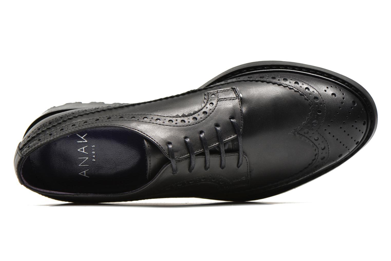 Chaussures à lacets Anaki Arianne Noir vue gauche