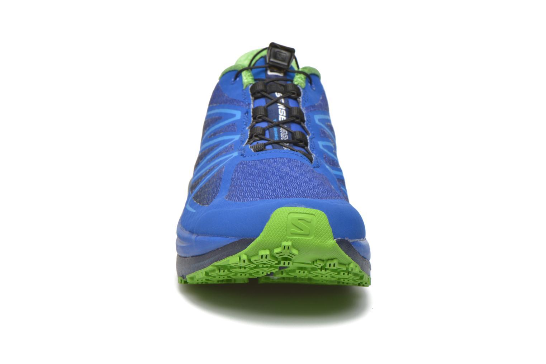 Sportschuhe Salomon Sense Propulse blau schuhe getragen