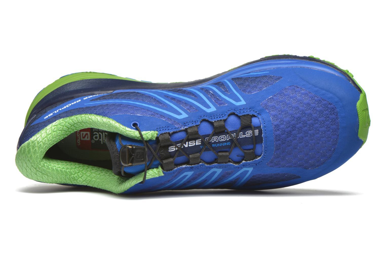 Sportschuhe Salomon Sense Propulse blau ansicht von links