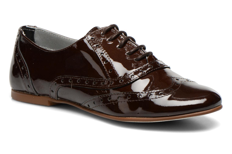 Snøresko Ippon Vintage Woody lux Brun detaljeret billede af skoene