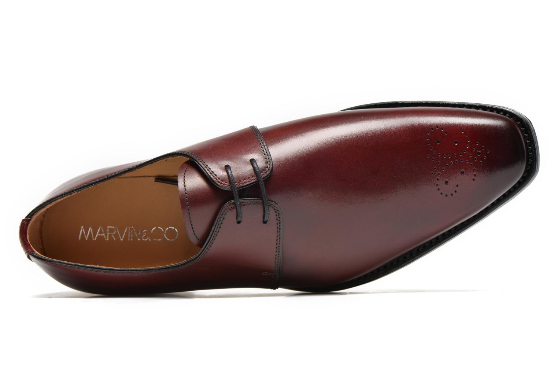 Chaussures à lacets Marvin&Co Luxe Wedyf Bordeaux vue gauche