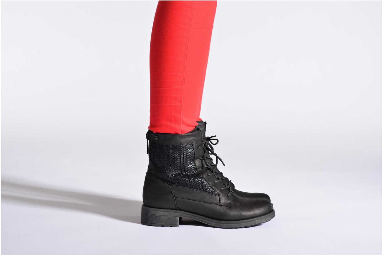 Bottines et boots Refresh Bianca-61673 Noir vue bas / vue portée sac