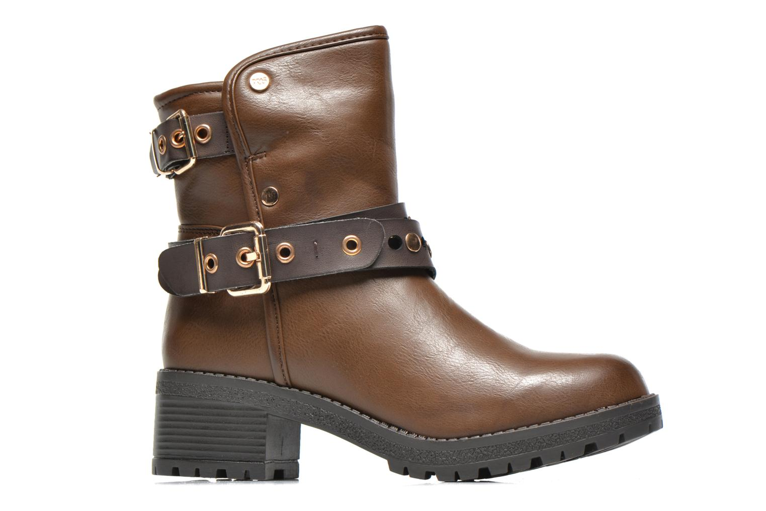 Ankle boots Xti Alissa-28543 Brown back view