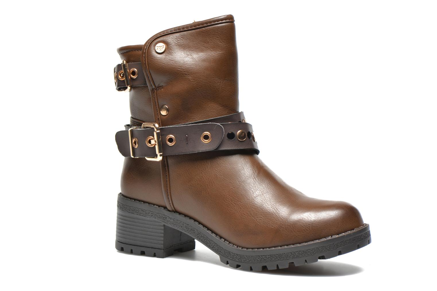 Ankle boots Xti Alissa-28543 Brown detailed view/ Pair view