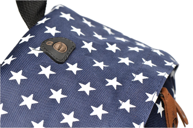 Mochilas Mi-Pac All stars Backpack Azul vista lateral izquierda
