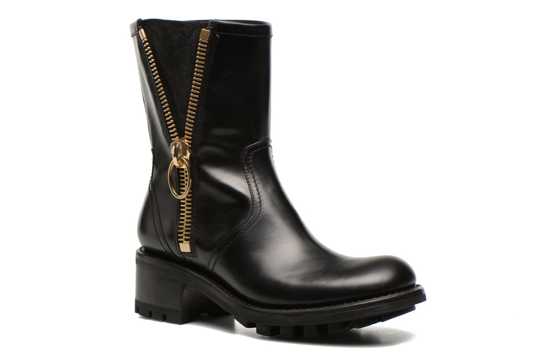 Justy 4 mid bag zip Tudor noir zip or