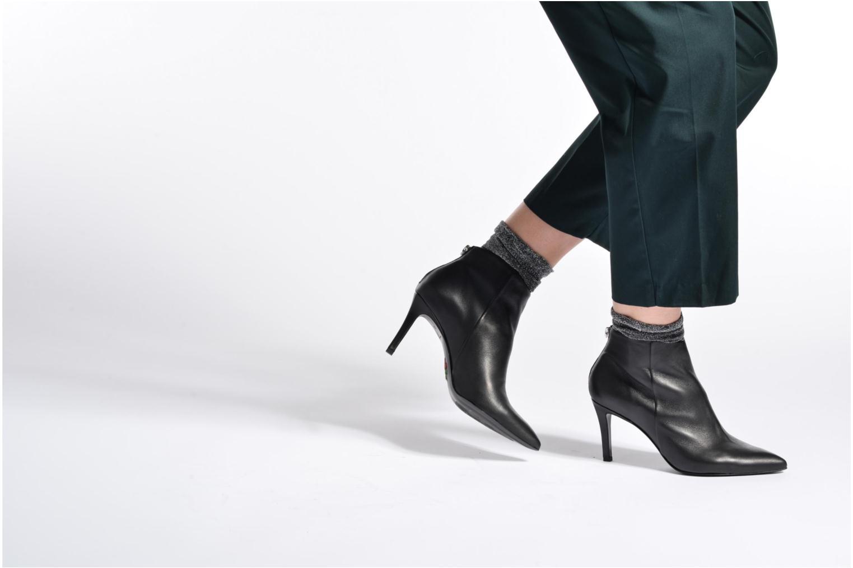 Stiefeletten & Boots Free Lance Itlys 7 zip back boot schwarz ansicht von unten / tasche getragen