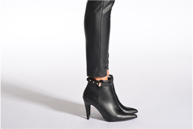 Bottines et boots Divine Factory Potchi Noir vue bas / vue portée sac