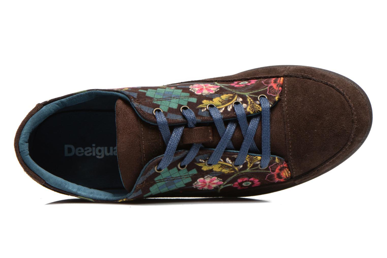 Sneaker Desigual Happy Luna braun ansicht von links