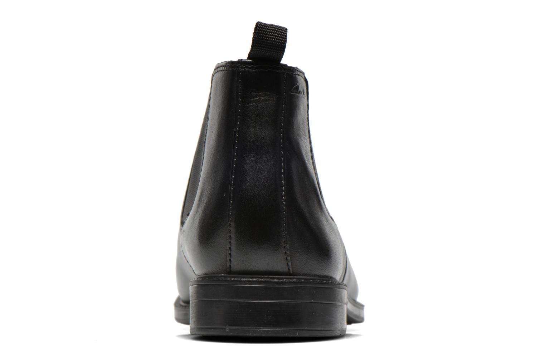 Boots en enkellaarsjes Clarks Chilver Top Zwart rechts