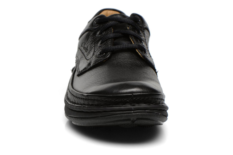 Schnürschuhe Clarks Nature Three schwarz schuhe getragen