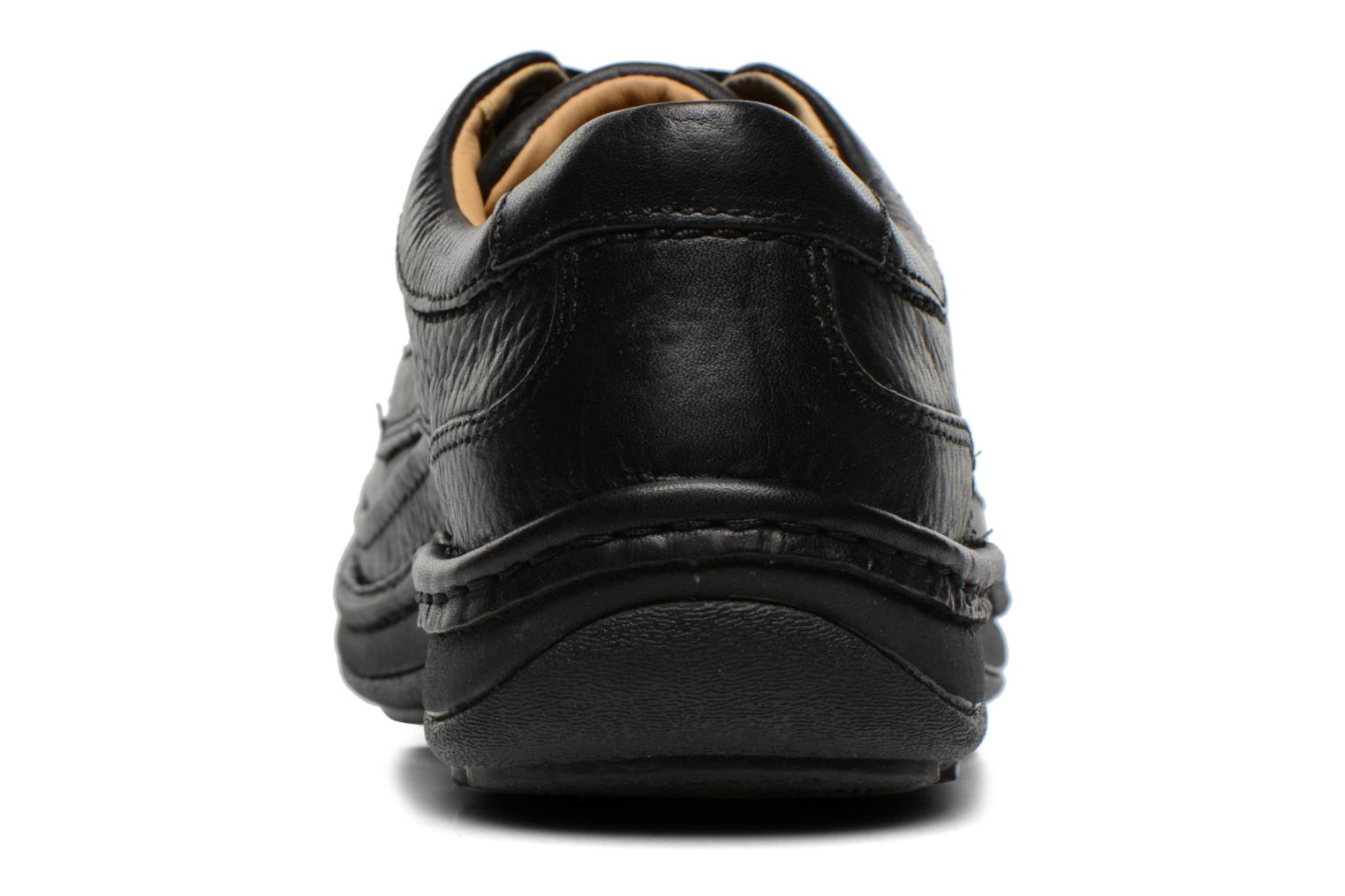 Lace-up shoes Clarks Nature Three Black view from the right