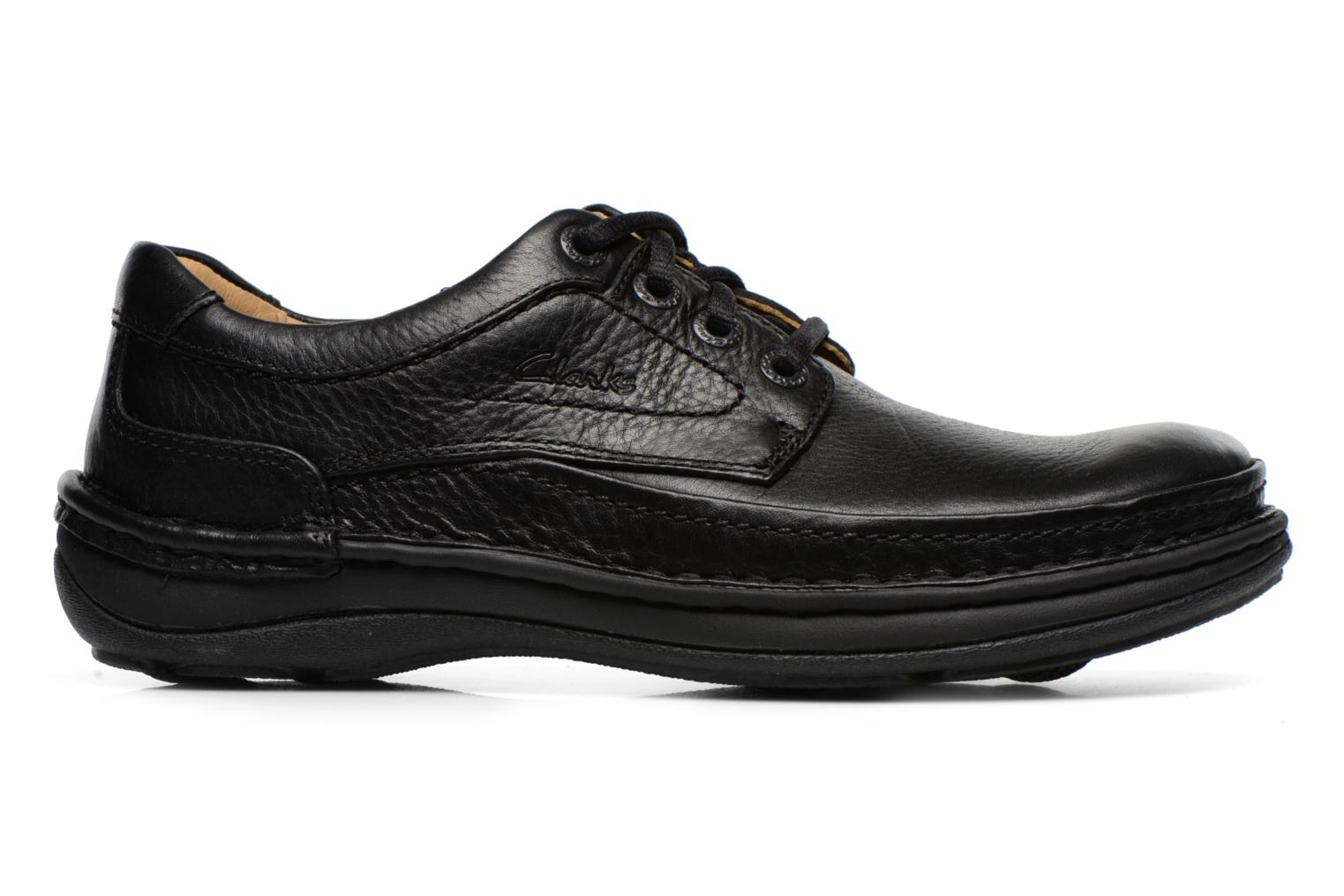 Lace-up shoes Clarks Nature Three Black back view