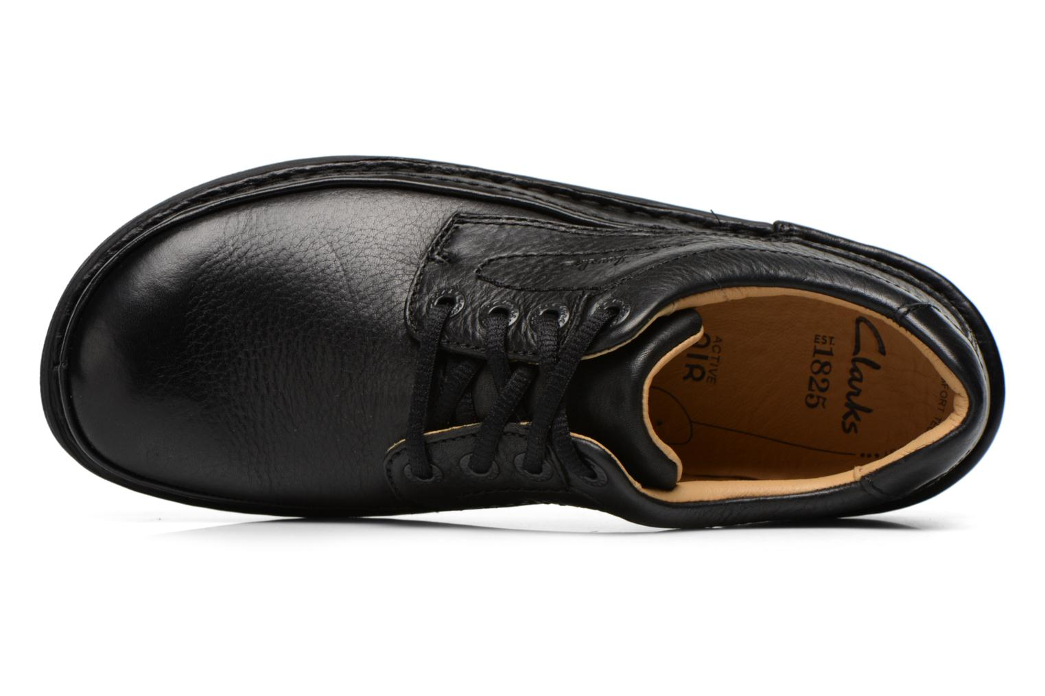 Lace-up shoes Clarks Nature Three Black view from the left