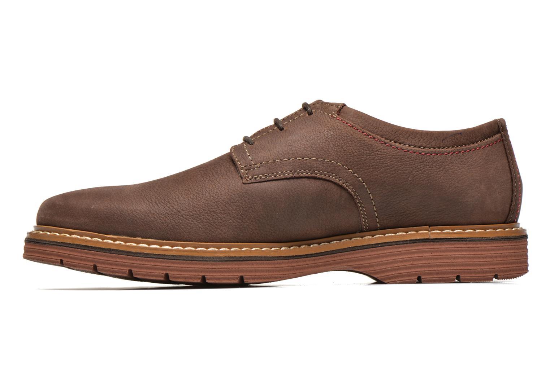 Chaussures à lacets Clarks Newkirk Plain Marron vue face