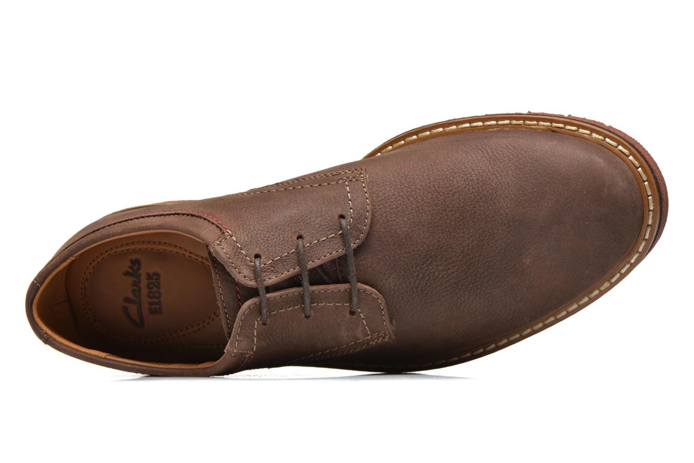 Chaussures à lacets Clarks Newkirk Plain Marron vue gauche