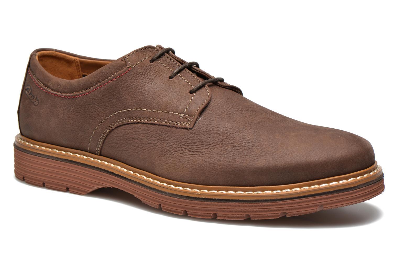 Chaussures à lacets Clarks Newkirk Plain Marron vue détail/paire