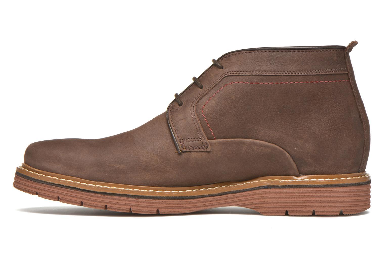 Chaussures à lacets Clarks Newkirk Top Marron vue face