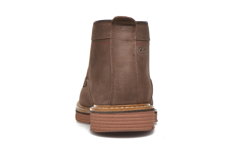 Chaussures à lacets Clarks Newkirk Top Marron vue droite