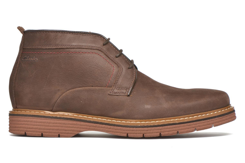 Chaussures à lacets Clarks Newkirk Top Marron vue derrière