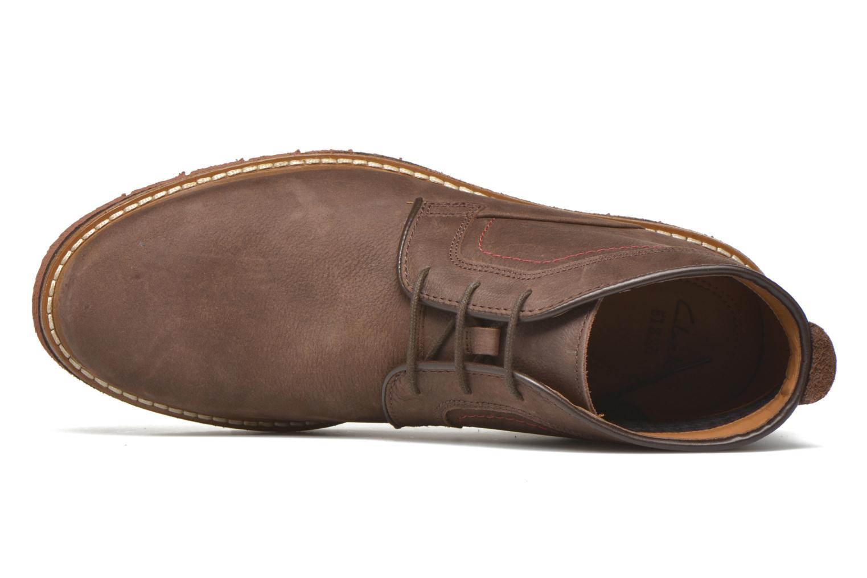 Chaussures à lacets Clarks Newkirk Top Marron vue gauche