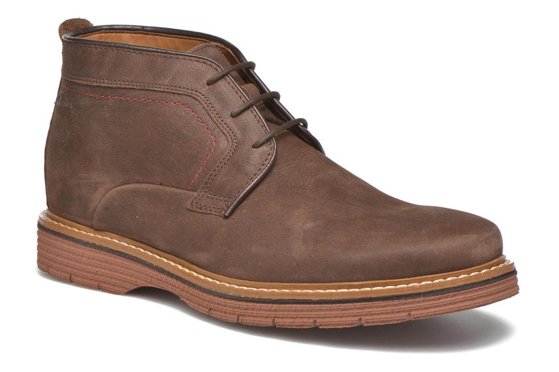 Chaussures à lacets Clarks Newkirk Top Marron vue détail/paire