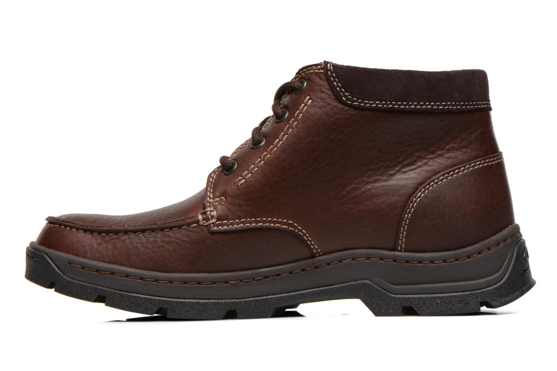 Chaussures à lacets Clarks Stanten Time GTX Marron vue face