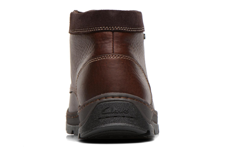 Chaussures à lacets Clarks Stanten Time GTX Marron vue droite