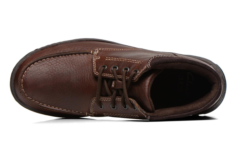 Chaussures à lacets Clarks Stanten Time GTX Marron vue gauche