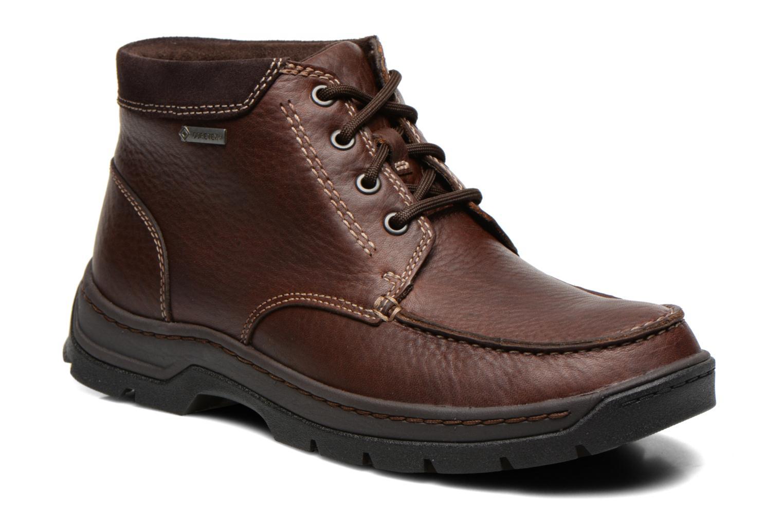Chaussures à lacets Clarks Stanten Time GTX Marron vue détail/paire