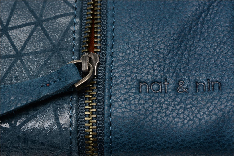 Petite Maroquinerie Nat & Nin Gloria Bleu vue gauche