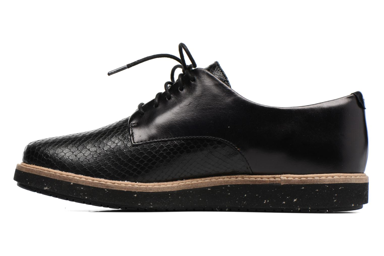 Chaussures à lacets Clarks Glick Darby Noir vue face