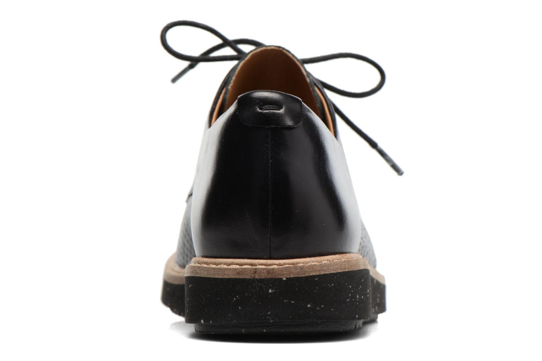 Chaussures à lacets Clarks Glick Darby Noir vue droite