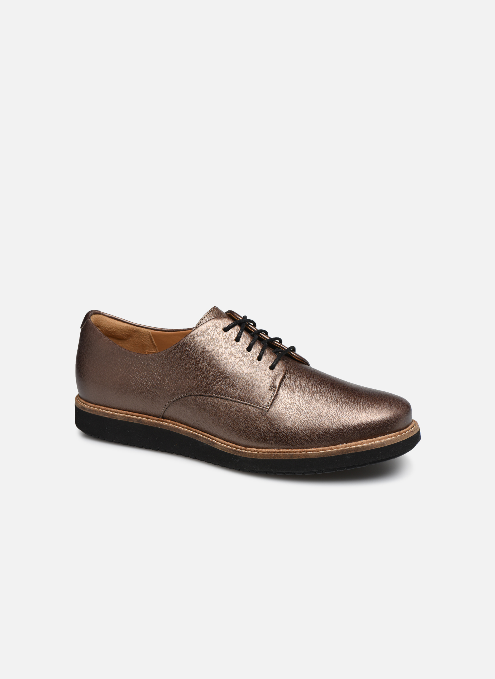 Glick Darby Pewter Leather