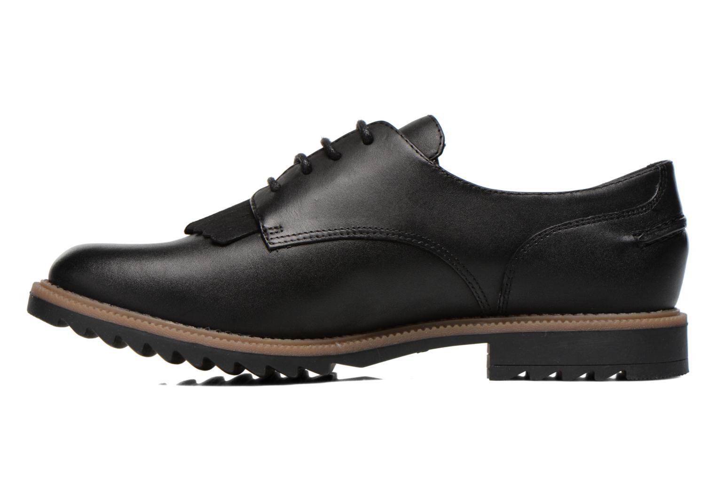 Zapatos con cordones Clarks Griffin Mabel Negro vista de frente
