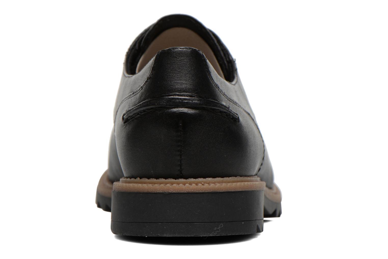 Zapatos con cordones Clarks Griffin Mabel Negro vista lateral derecha