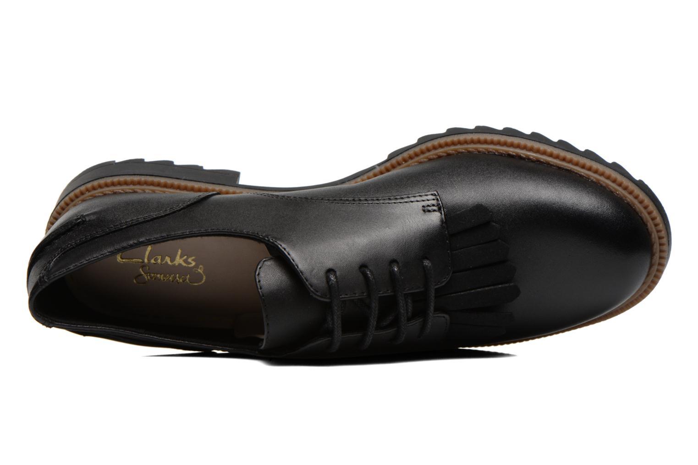 Zapatos con cordones Clarks Griffin Mabel Negro vista lateral izquierda