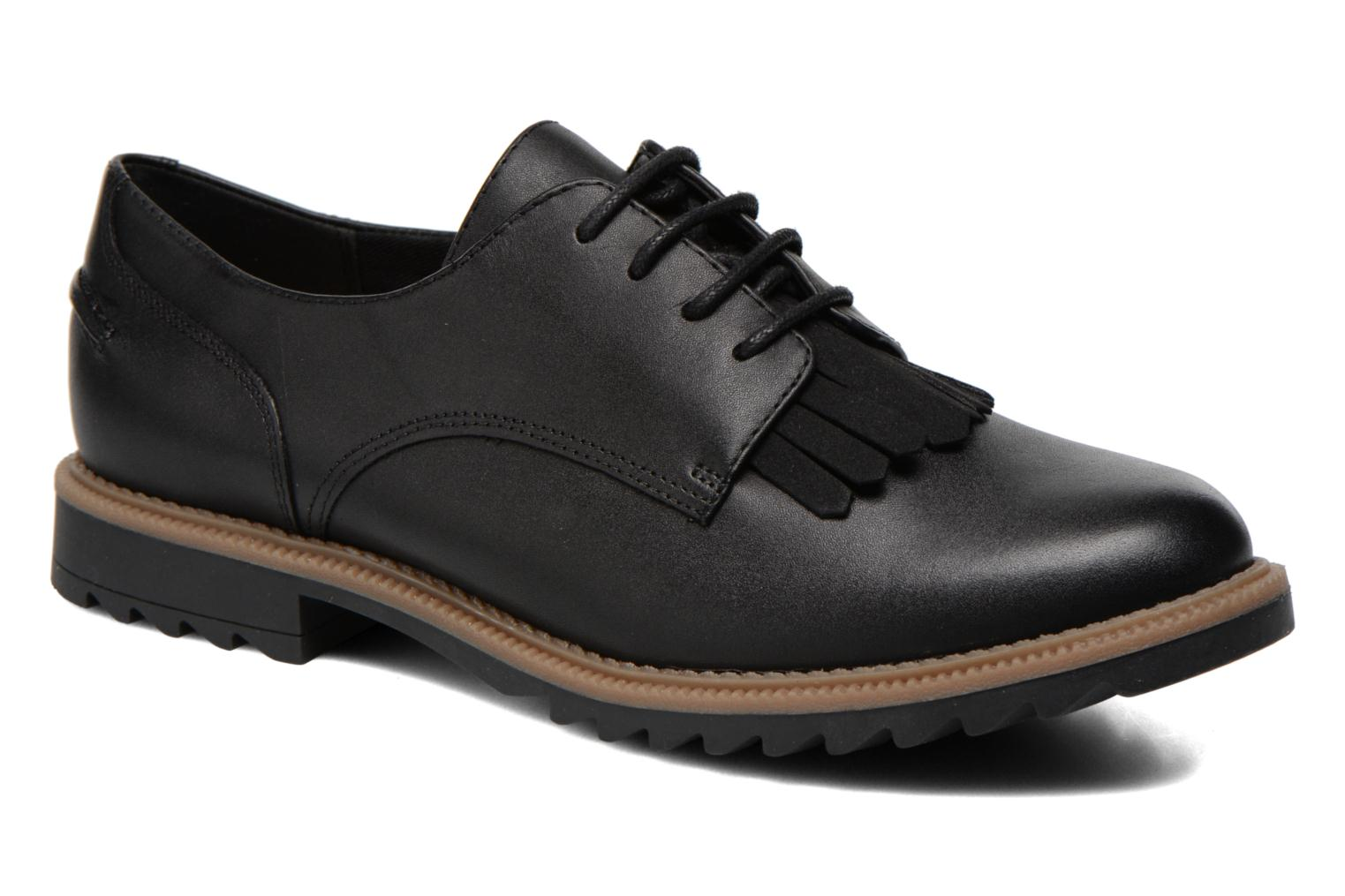 Lace-up shoes Clarks Griffin Mabel Black detailed view/ Pair view