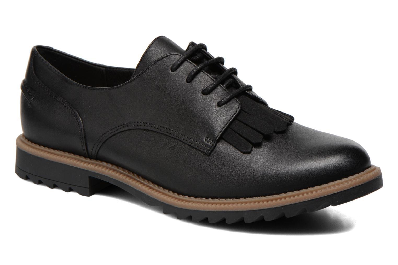 Snøresko Clarks Griffin Mabel Sort detaljeret billede af skoene