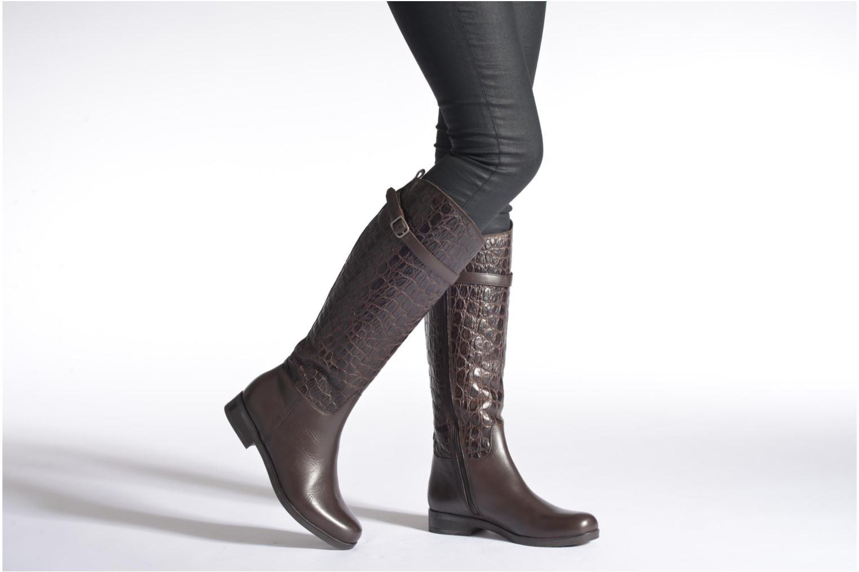 Stiefel Clarks Hopedale Wish schwarz ansicht von unten / tasche getragen