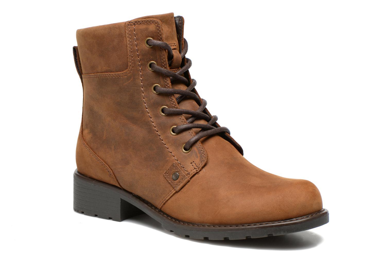 Bottines et boots Clarks Orinoco Spice Marron vue détail/paire