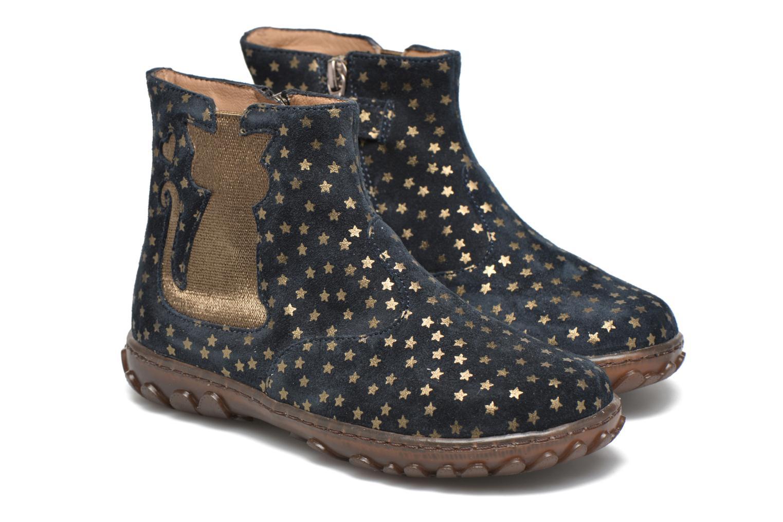 Bottines et boots Pom d Api Cute boots cat mini star Bleu vue 3/4