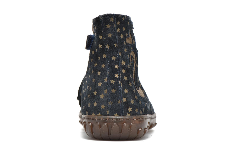 Bottines et boots Pom d Api Cute boots cat mini star Bleu vue droite