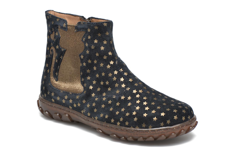 Bottines et boots Pom d Api Cute boots cat mini star Bleu vue détail/paire