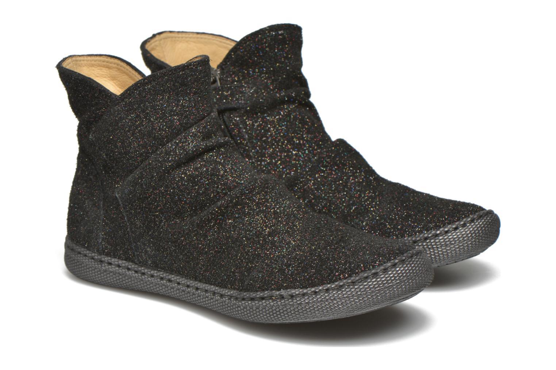 Bottines et boots Pom d Api New school pleats golden Noir vue 3/4