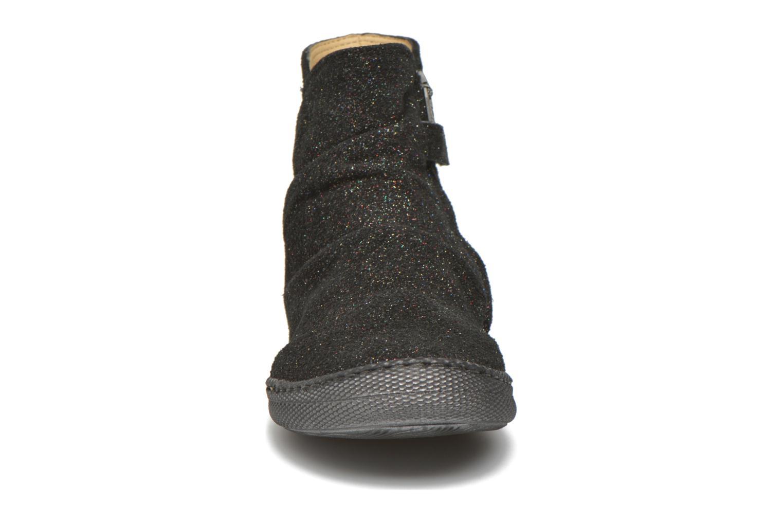 Bottines et boots Pom d Api New school pleats golden Noir vue portées chaussures