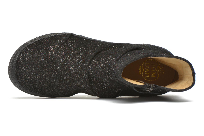 Bottines et boots Pom d Api New school pleats golden Noir vue gauche