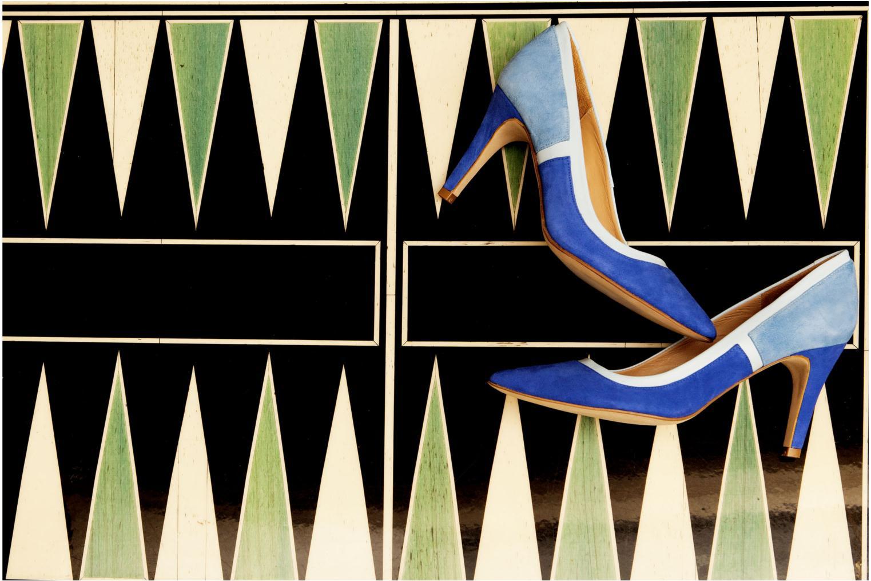 Escarpins Made by SARENZA Notting Heels #1 Bleu vue 3/4